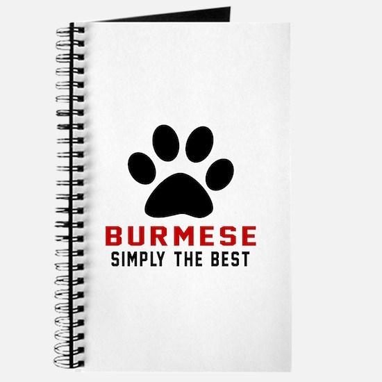 Burmese Simply The Best Cat Designs Journal