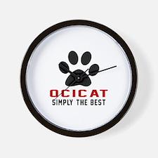 Ocicat Simply The Best Cat Designs Wall Clock