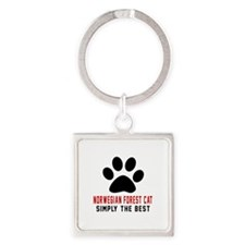 Norwegian Forest Cat Simply The Be Square Keychain