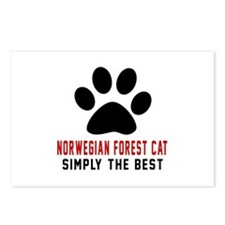 Norwegian Forest Cat Simp Postcards (Package of 8)