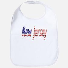 Patriotic New Jersey Bib