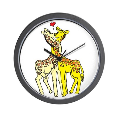 Giraffes In Love Wall Clock