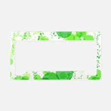 Bubbles Green License Plate Holder