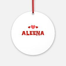 Aleena Ornament (Round)