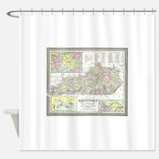 Vintage Map of Kentucky (1850) Shower Curtain