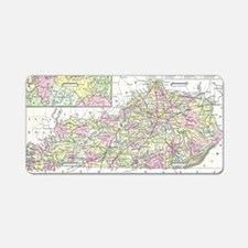Vintage Map of Kentucky (18 Aluminum License Plate