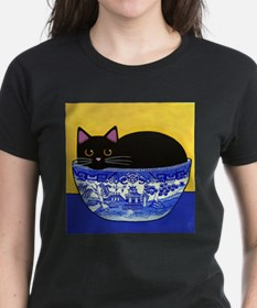 Cute Cats and blue willow Tee