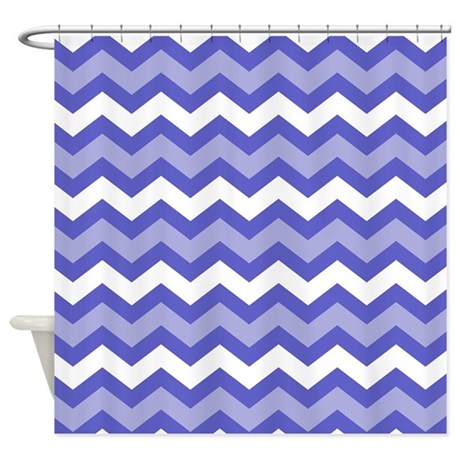 Blue And White Chevron Medley Shower Curtain By Chevroncitypart2
