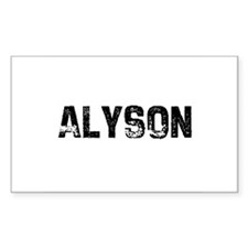 Alyson Rectangle Decal
