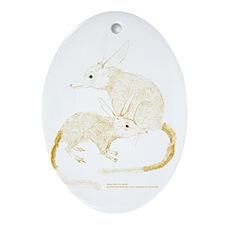 Bilbies (Gold) Oval Ornament