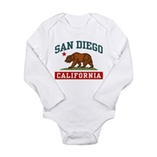 Cool I love san diego Long Sleeve Infant Bodysuit