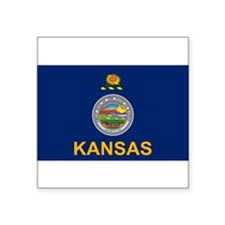 "Unique Kansas Square Sticker 3"" x 3"""