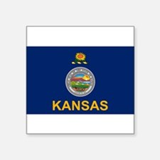 "Cute Kansas Square Sticker 3"" x 3"""