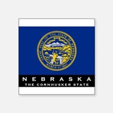 "Cute Nebraska Square Sticker 3"" x 3"""