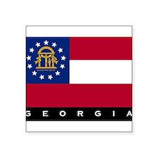 """Funny Georgia Square Sticker 3"""" x 3"""""""