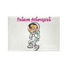 Future Astronaut (girl) Rectangle Magnet