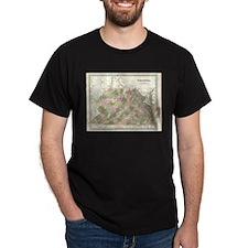 Vintage Map of Virginia (1838) T-Shirt