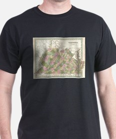 Vintage Map of Virginia (1838) T-Shirt