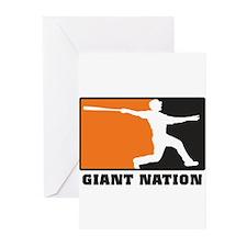 Cute Giants baseball Greeting Cards (Pk of 20)