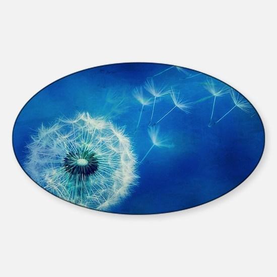 Dandelions in the Blue Sticker (Oval)