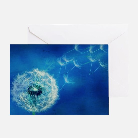 Dandelions in the Blue Greeting Card