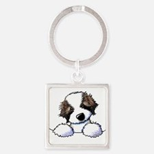 St. Bernard Puppy Pocket Keychains