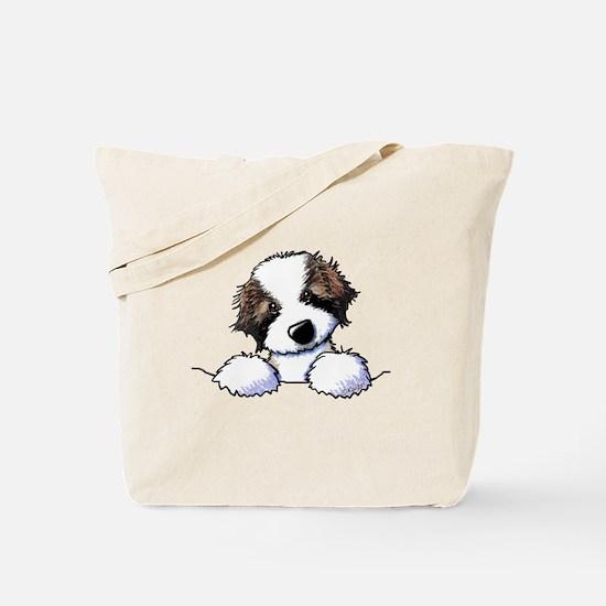 St. Bernard Puppy Pocket Tote Bag