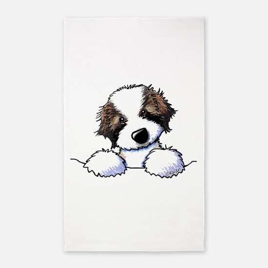 St. Bernard Puppy Pocket Area Rug