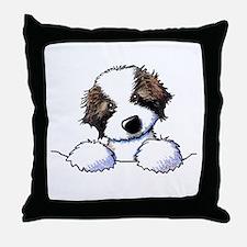 St. Bernard Puppy Pocket Throw Pillow