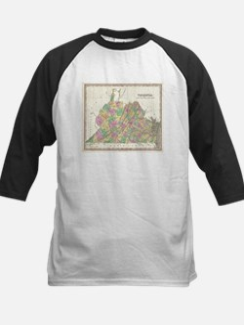Vintage Map of Virginia (1827) Baseball Jersey