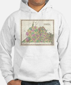 Vintage Map of Virginia (1827) Hoodie