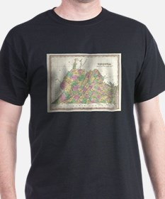 Vintage Map of Virginia (1827) T-Shirt