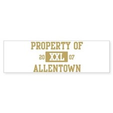 Property of Allentown Bumper Bumper Sticker