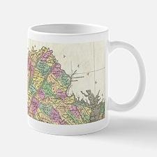 Vintage Map of Virginia (1827) Mugs
