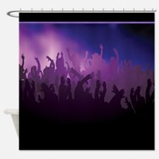 Shades of Purple Concert Fans Shower Curtain