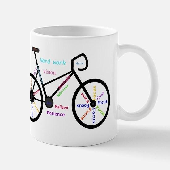 Women's Mountain Bike Inspirational Words Mugs