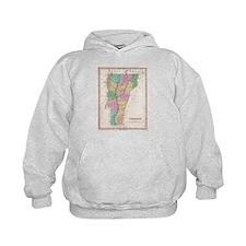 Vintage Map of Vermont (1827) Hoodie