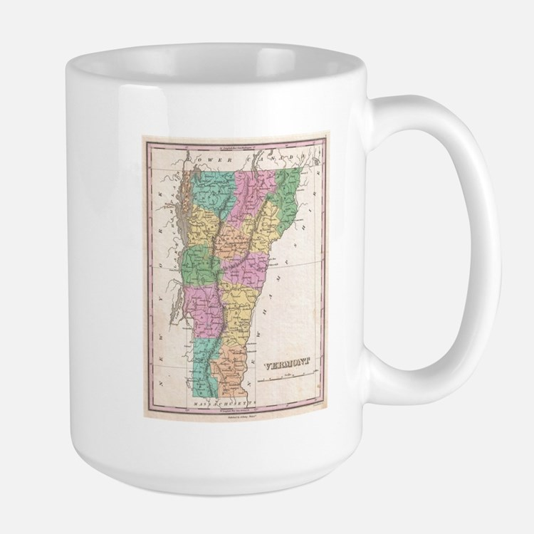 Vintage Map of Vermont (1827) Mugs