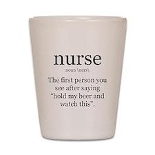 nurse definition Shot Glass