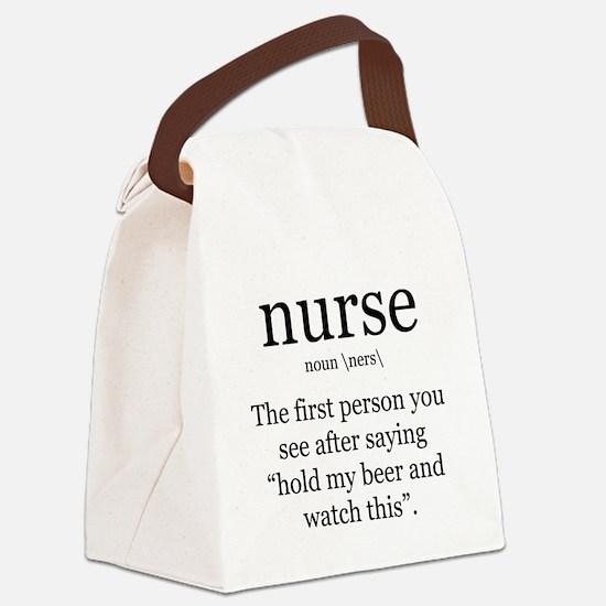 nurse definition Canvas Lunch Bag