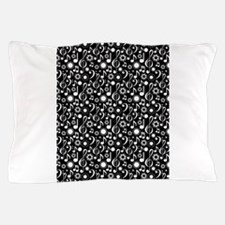 Cool Bass clef black Pillow Case