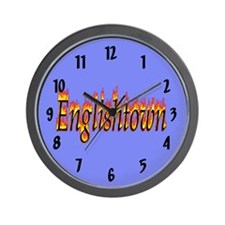 Englishtown Flame Wall Clock