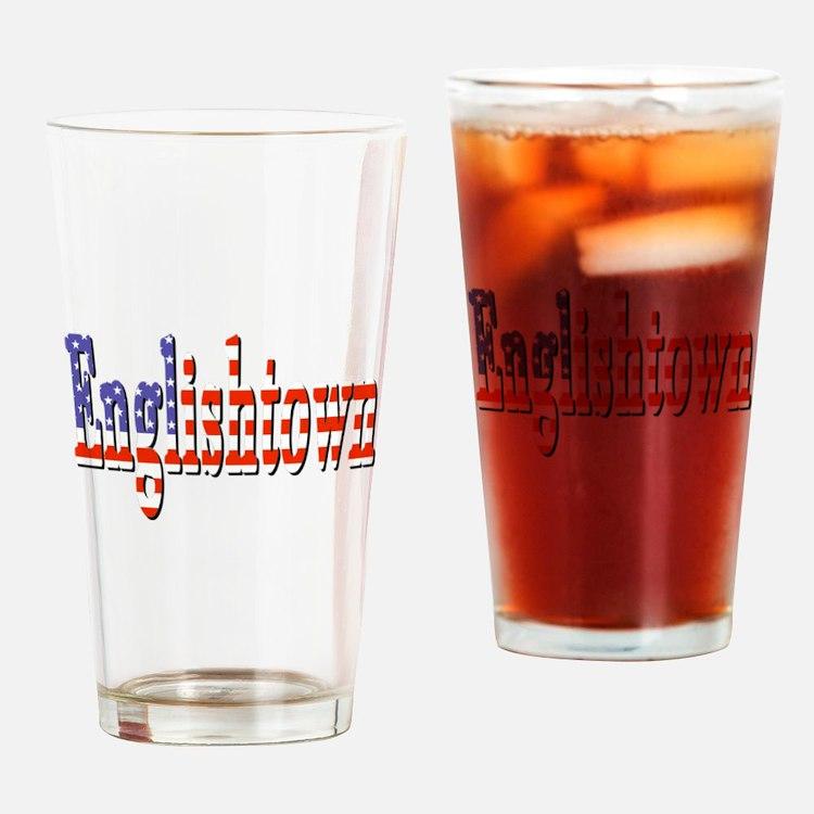 Patriotic Englishtown Drinking Glass