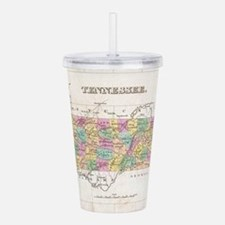Vintage Map of Tenness Acrylic Double-wall Tumbler