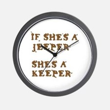 If She's a Jeeper Wall Clock