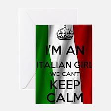 I'm an Italian Girl Greeting Card
