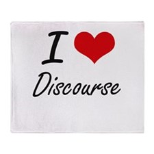 I love Discourse Throw Blanket