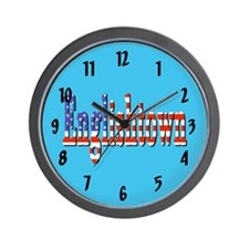 Patriotic Englishtown Wall Clock