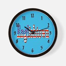 Patriotic Englishtown Wall Clock