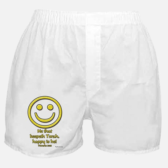 Happy Is He Who Keeps Torah Boxer Shorts